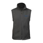 Fleece Full Zip Charcoal Vest-IPFW