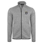 Grey Heather Fleece Jacket-Primary Athletic Logo