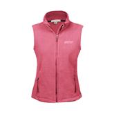 Ladies Fleece Full Zip Raspberry Vest-IPFW