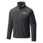 Columbia Full Zip Charcoal Fleece Jacket-Athletics Primary Wordmark