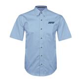 Light Blue Twill Button Down Short Sleeve-IPFW