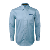 Light Blue Twill Button Down Long Sleeve-IPFW