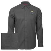 Red House Dark Charcoal Diamond Dobby Long Sleeve Shirt-Primary Athletic Logo
