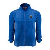 Fleece Full Zip Royal Jacket-IPFW Mastodon Shield
