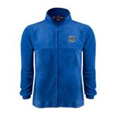 Fleece Full Zip Royal Jacket-IPFW Mastodon Shield