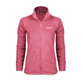 Ladies Fleece Full Zip Raspberry Jacket-IPFW