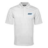 White Mini Stripe Polo-IPFW