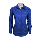 Ladies Royal Twill Button Down Long Sleeve-IPFW
