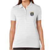 Ladies Callaway Opti Vent White Polo-Primary Athletic Logo