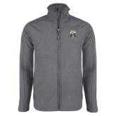 Grey Heather Softshell Jacket-Primary Athletic Logo