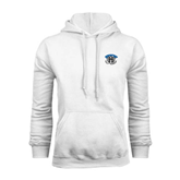 White Fleece Hoodie-Arched IPFW with Mastodon