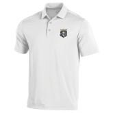 Under Armour White Performance Polo-Primary Athletic Logo