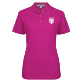 Ladies Easycare Tropical Pink Pique Polo-Primary Athletic Logo