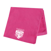 Pink Beach Towel-Primary Athletic Logo