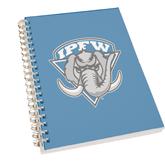 Clear 7 x 10 Spiral Journal Notebook-IPFW Mastodon Shield