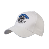 White Heavyweight Twill Pro Style Hat-Arched IPFW with Mastodon
