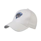 White Heavyweight Twill Pro Style Hat-IPFW Mastodon Shield