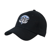 Black Heavyweight Twill Pro Style Hat-IPFW Mastodon Shield