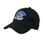 Black Heavyweight Twill Pro Style Hat-Arched IPFW with Mastodon