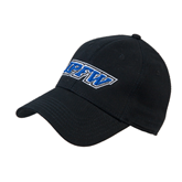 Black Heavyweight Twill Pro Style Hat-IPFW