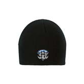 Black Knit Beanie-IPFW Mastodon Shield