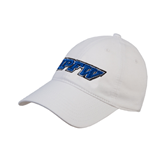 White Twill Unstructured Low Profile Hat-IPFW