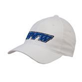 White OttoFlex Unstructured Low Profile Hat-IPFW