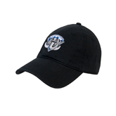 Black Twill Unstructured Low Profile Hat-IPFW Mastodon Shield