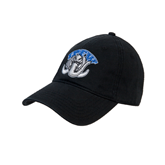Black Twill Unstructured Low Profile Hat-Arched IPFW with Mastodon