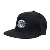 Black OttoFlex Flat Bill Pro Style Hat-IPFW Mastodon Shield