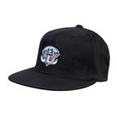 Black OttoFlex Flat Bill Pro Style Hat-IPFW Mastodon Shield