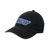 Black OttoFlex Unstructured Low Profile Hat-IPFW