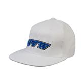 White OttoFlex Flat Bill Pro Style Hat-IPFW