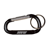 Black Carabiner with Split Ring-IPFW Engraved