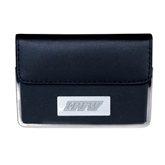 Leather Black Business Card Case-IPFW Engraved