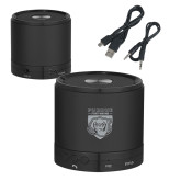 Wireless HD Bluetooth Black Round Speaker-Primary Athletic Logo Engraved