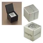 Icon Inspiration Cube-IPFW Mastodon Shield Engraved