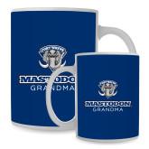 Full Color White Mug 15oz-Mastodon Grandma