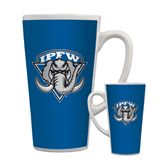 Full Color Latte Mug 17oz-IPFW Mastodon Shield