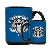 Full Color Black Mug 15oz-IPFW Mastodon Shield