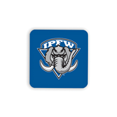 Hardboard Coaster w/Cork Backing-IPFW Mastodon Shield
