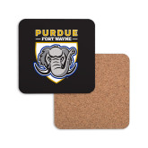 Hardboard Coaster w/Cork Backing-Primary Athletic Logo