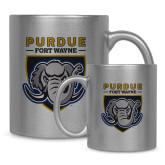 Full Color Silver Metallic Mug 11oz-Primary Athletic Logo