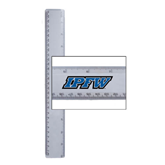 12 Inch White Plastic Ruler-IPFW
