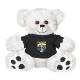 Plush Big Paw 8 1/2 inch White Bear w/Black Shirt-Primary Athletic Logo