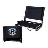 Stadium Chair Black-IPFW Mastodon Shield