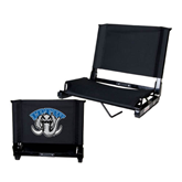 Stadium Chair Black-Arched IPFW with Mastodon