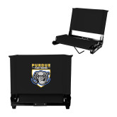 Stadium Chair Black-Primary Athletic Logo