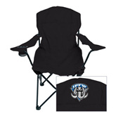 Deluxe Black Captains Chair-IPFW Mastodon Shield