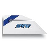 Angled Blue Stripe Letter Opener-IPFW